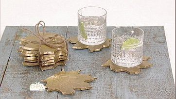 Gold Leaf Coasters