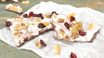 Jeweled Citrus Bark Recipe by Carla Hall