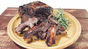 Garlic & Herb Crusted Standing Rib Roast Recipe by Michael Symon