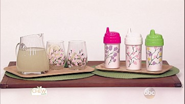 Cherry Blossom Branch Glasses Craft