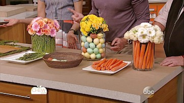 Egg, Veggie, & Flower Centerpiece