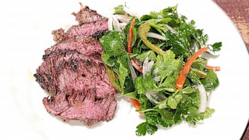 Grilled Hanger Steak with Pickled Chili Salad by Michael Symon: Part 1