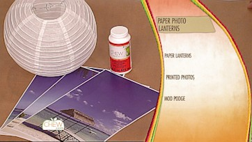 Paper Photo Lanterns Craft