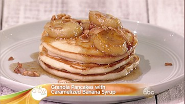 Granola Pancakes with Caramelized Banana Syrup Recipe: Part 2