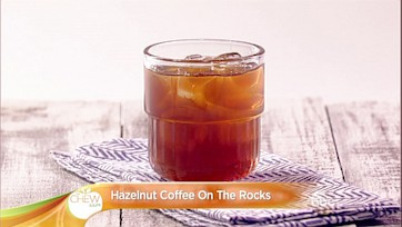 Hazelnut Coffee on The Rocks Cocktail