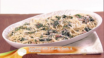Spaghetti with Collards, Garlic & Pancetta Recipe: Part 1