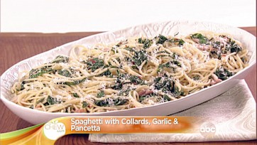 Spaghetti with Collards, Garlic & Pancetta Recipe: Part 2