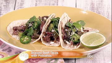Braised Beef Tacos with Poblanos Recipe