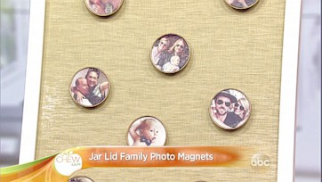 Jar Lid Family Photo Magnets