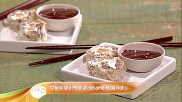 Chocolate Peanut Sesame Sushi Recipe: Part 1