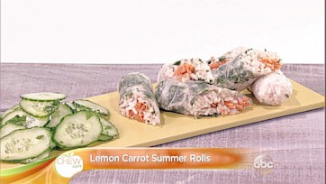 Lemon Carrot Summer Rolls Recipe: Part 2