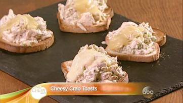 Cheesy Crab Toasts Recipe: Part 1