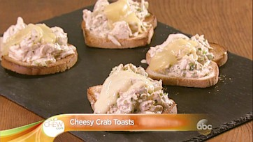 Cheesy Crab Toasts Recipe: Part 2