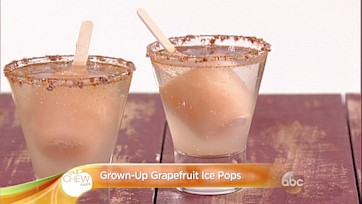 Grown-Up Grapefruit Popsicles