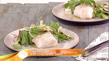 Poached Cod with a Crisp Green Salad: Part 1