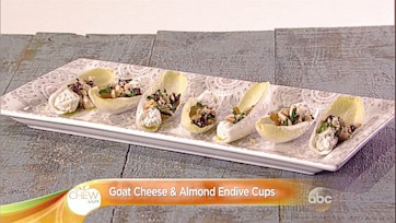 Goat Cheese & Almond Endive Cups