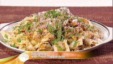 Bolognese with Fresh Pappardelle: Part 2