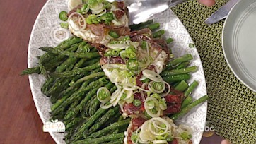 Asparagus with Sunny-Side-Up Eggs & Pan Fried Soft Shell Crabs: Part 1