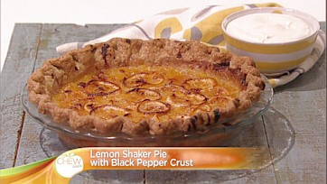 Lemon Shaker Pie with Black Pepper Crust