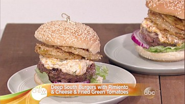 Deep South Burgers with Pimiento & Cheese & Fried Green Tomatoes: Part 2